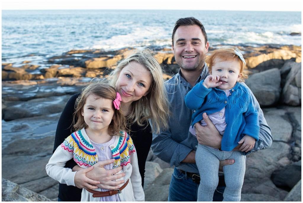 Cape Neddick Family Photo, Sarah Jane Photography