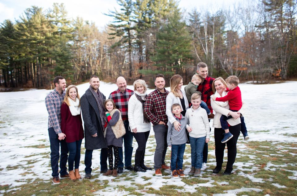 Winter Family Photo Session | Southern Maine Photographer