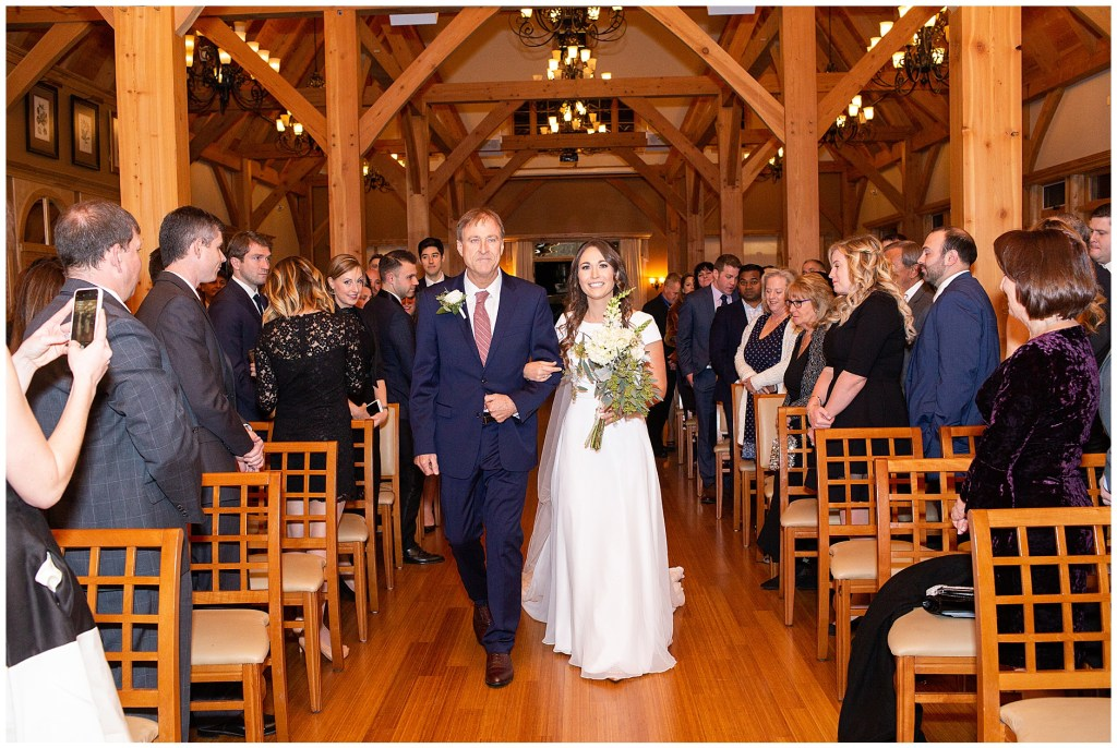 Wedding at Red Barn at Outlook Farm in Winter