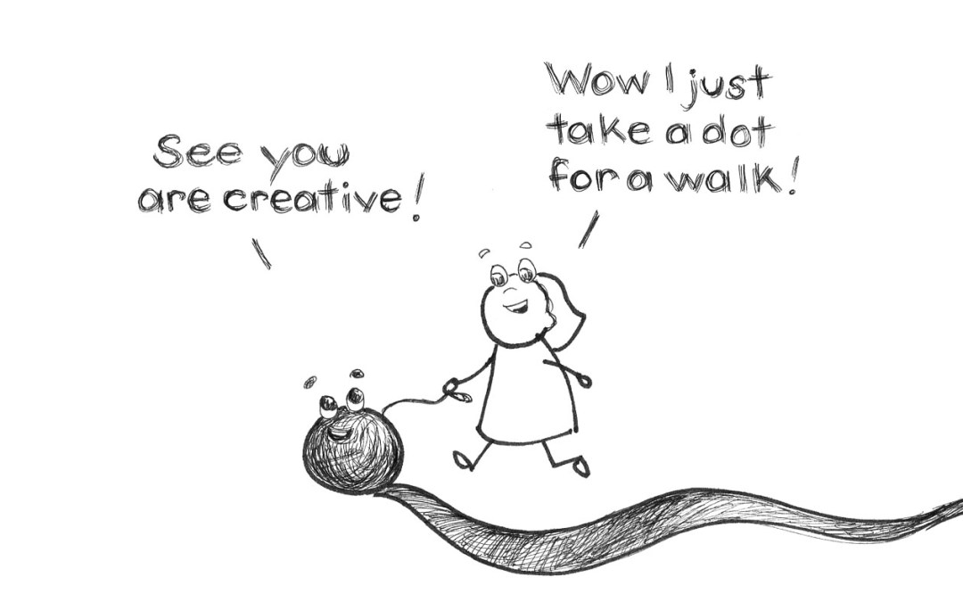 Take a dot for a walk – a little drawing exercise for fun