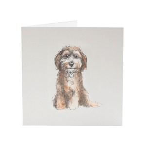 Cockapoo illustrated greeting card by Sarah Jane Vickery