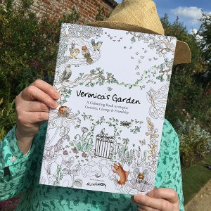Veronica's Garden colouring book by Sarah Jane Vickery