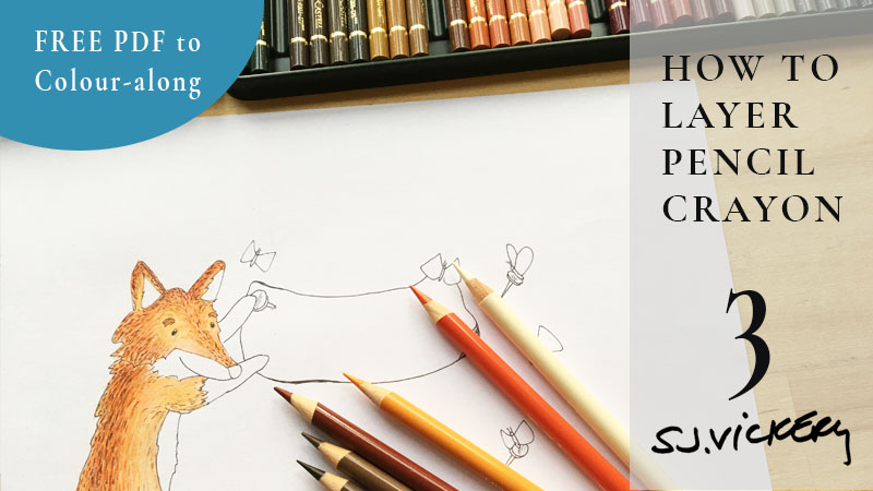 Tutorial 3: How to Layer Pencil Crayon | FREE PDF Real-Time Colour along with Foxy from Veronica's Garden
