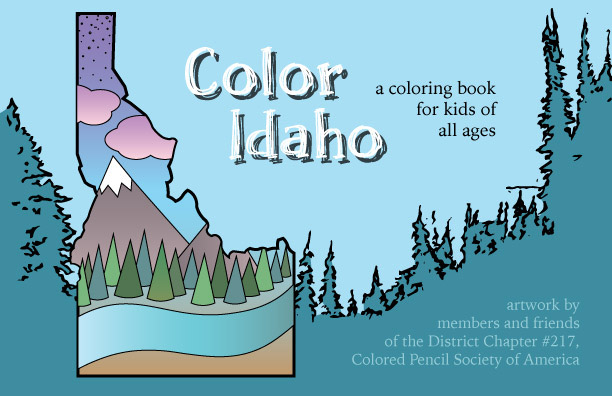 Color Idaho Coloring Book Cover – Sarah Johnson Art