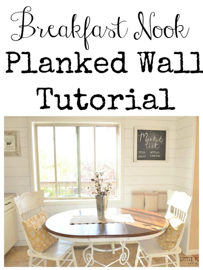 Breakfast Nook Planked Wall Tutorial