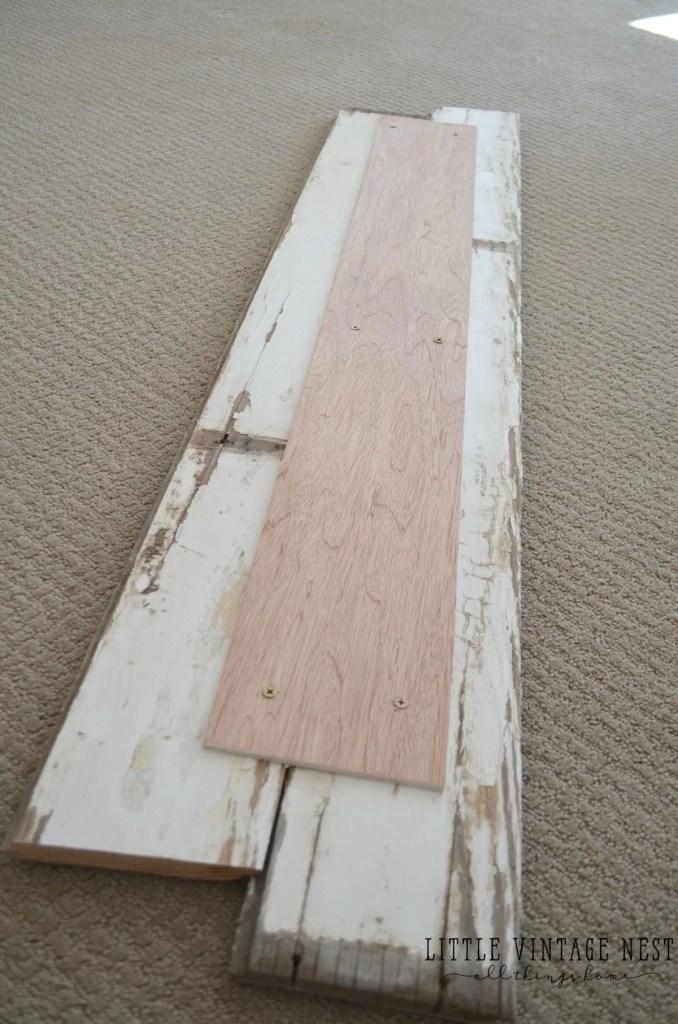 Home Sign Back side Planks