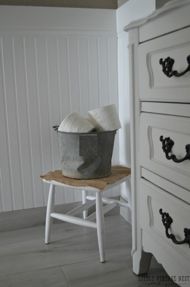Farmhouse Bathroom Decor Toilet Paper Bucket