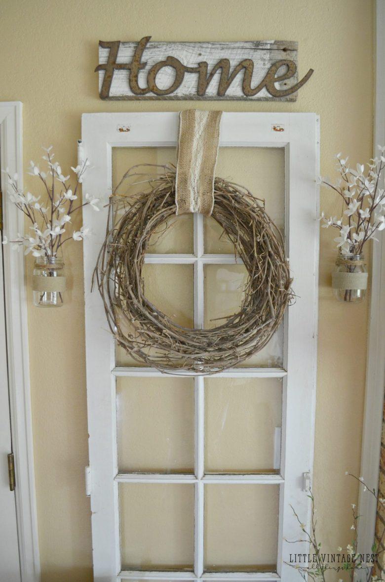Old Door Vintage Inspired in Entryway