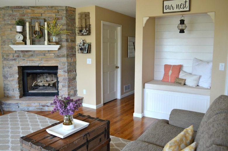 Farmhouse Living Room Summer Refresh Reading Nook