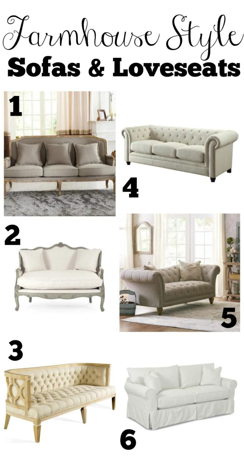 Farmhouse Style Sofas and Loveseats