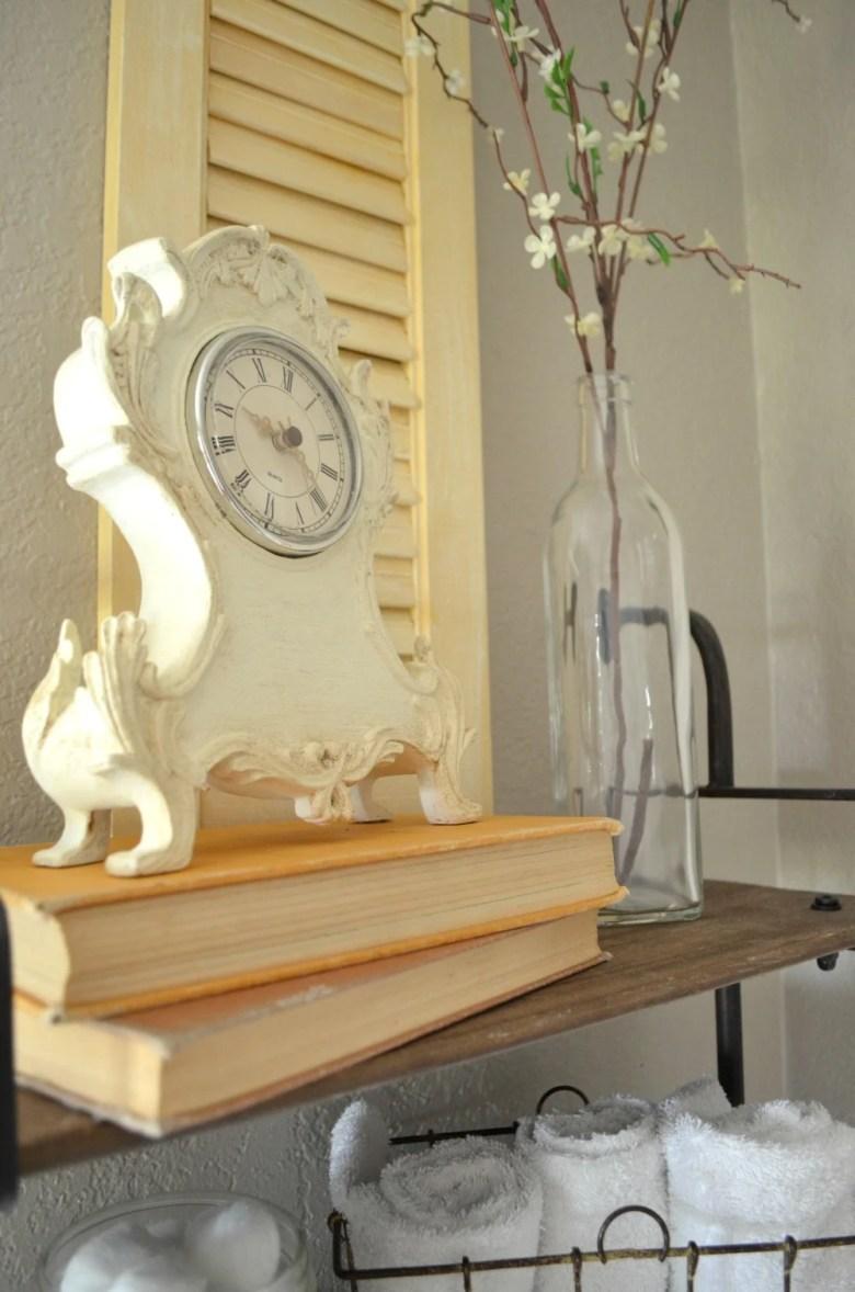 Vintage Decor Old Books Painted Clock