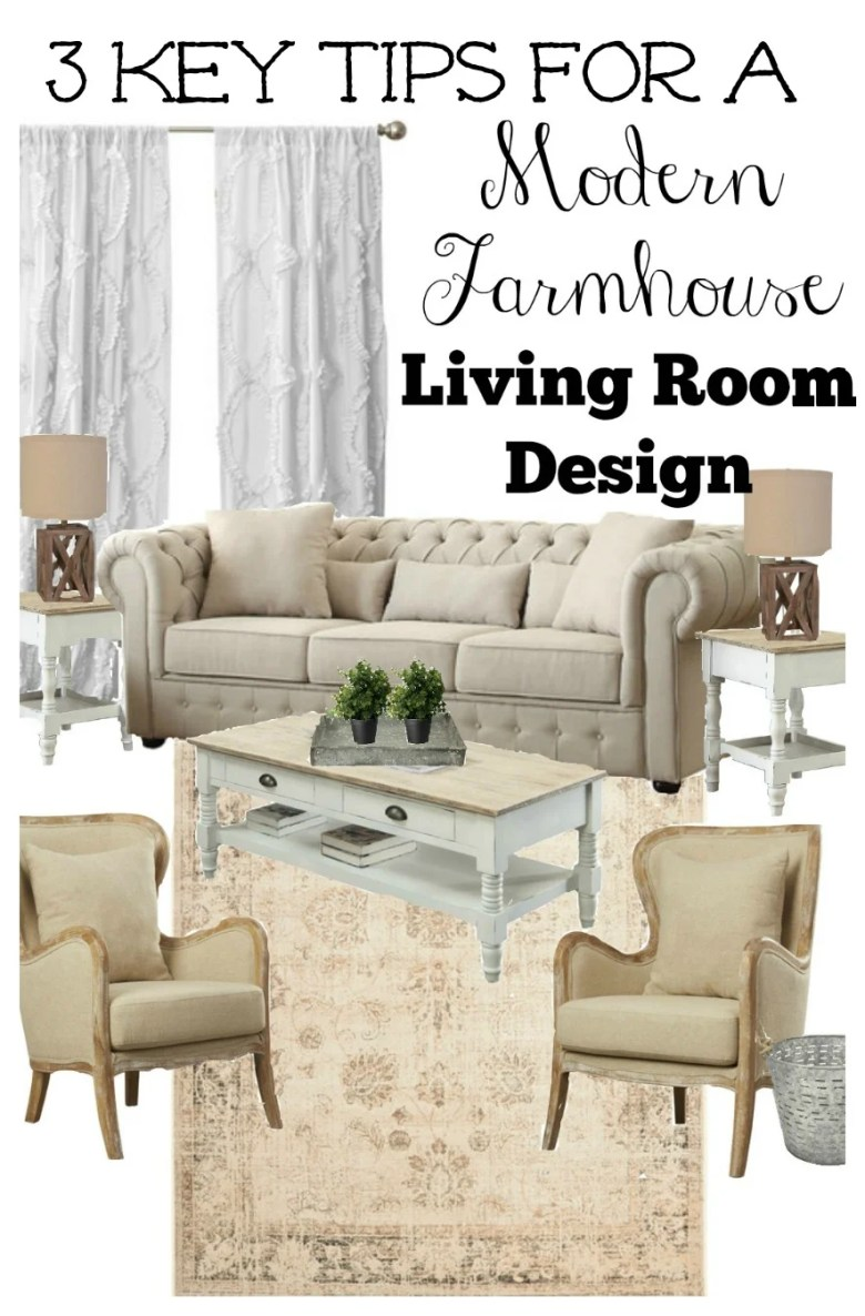 3 Key Tips for a Farmhouse Style Living Room