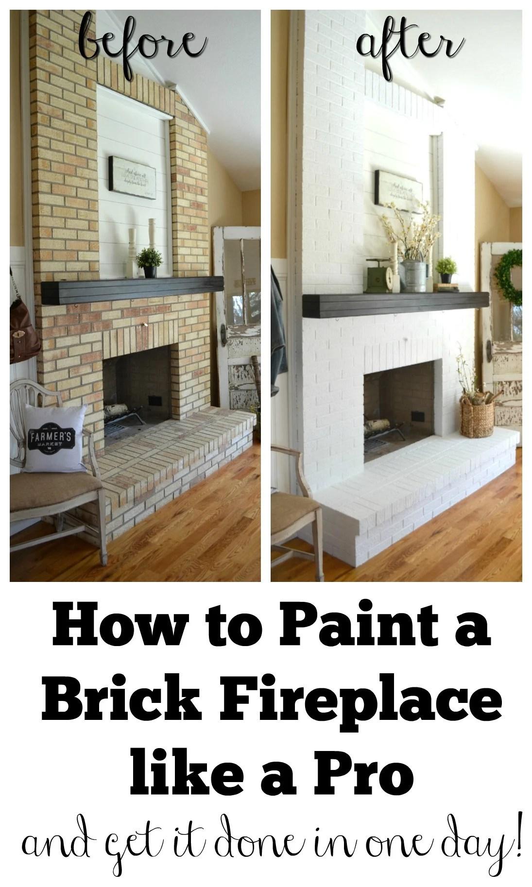 how to paint a brick fireplace sarah joy