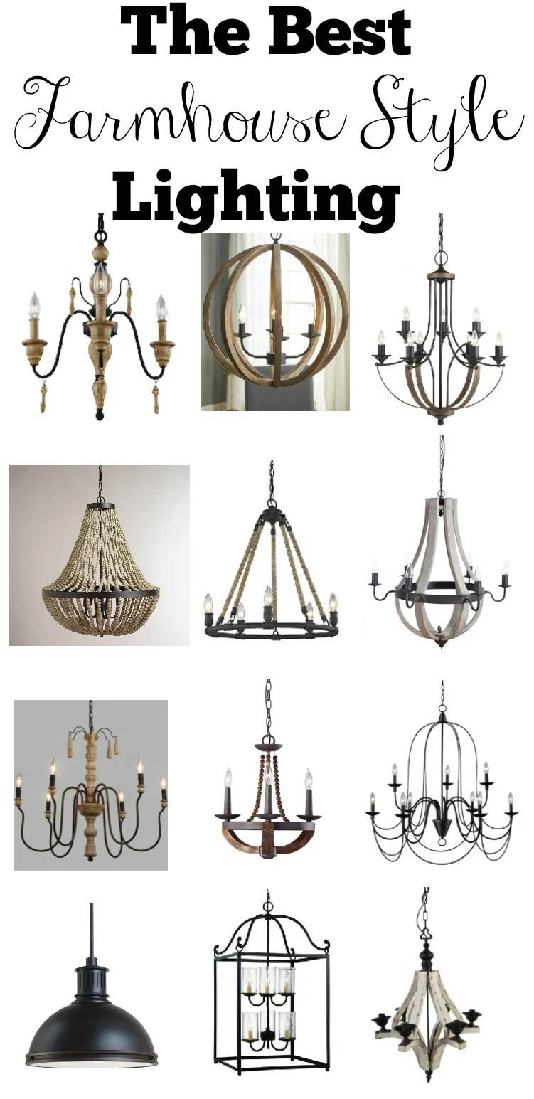 The Best Farmhouse Style Lighting Sarah Joy