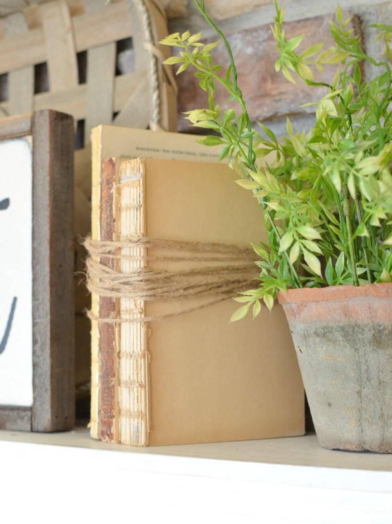 Farmhouse Decor on a budget: DIY Unbound Vintage Books