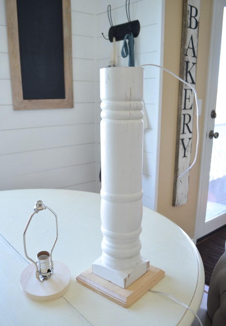 A Simple DIY Farmhouse Style Lamp
