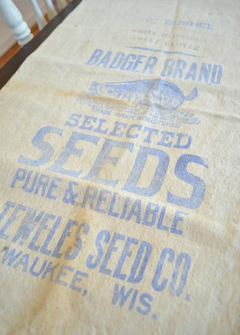Friday Favorites: Vintage Grain Sacks