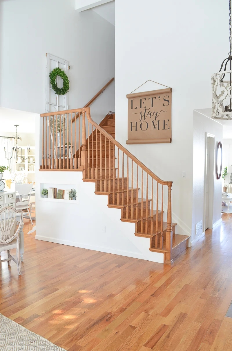 Staircase Update Painting Options | Grey Banister White Spindles | Silver | Indoor | Pewter | Gloss | Wrought Iron