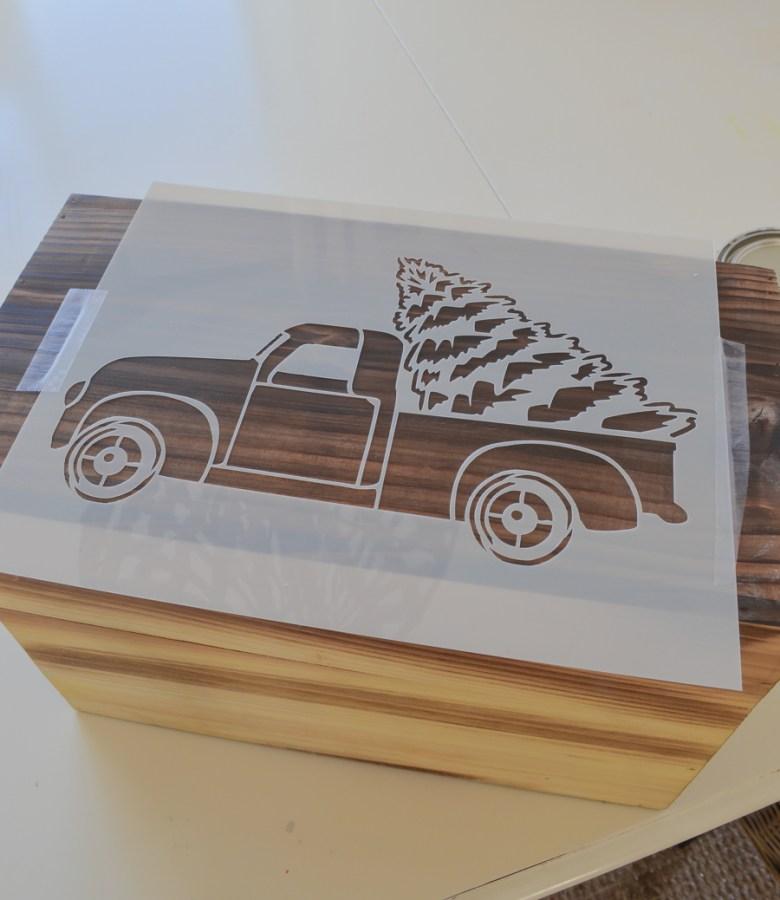 Easy DIY Christmas Truck Crate