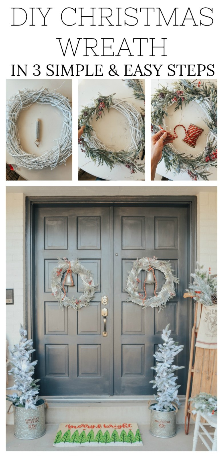 DIY Christmas Wreath in 3 Simple and Easy Steps