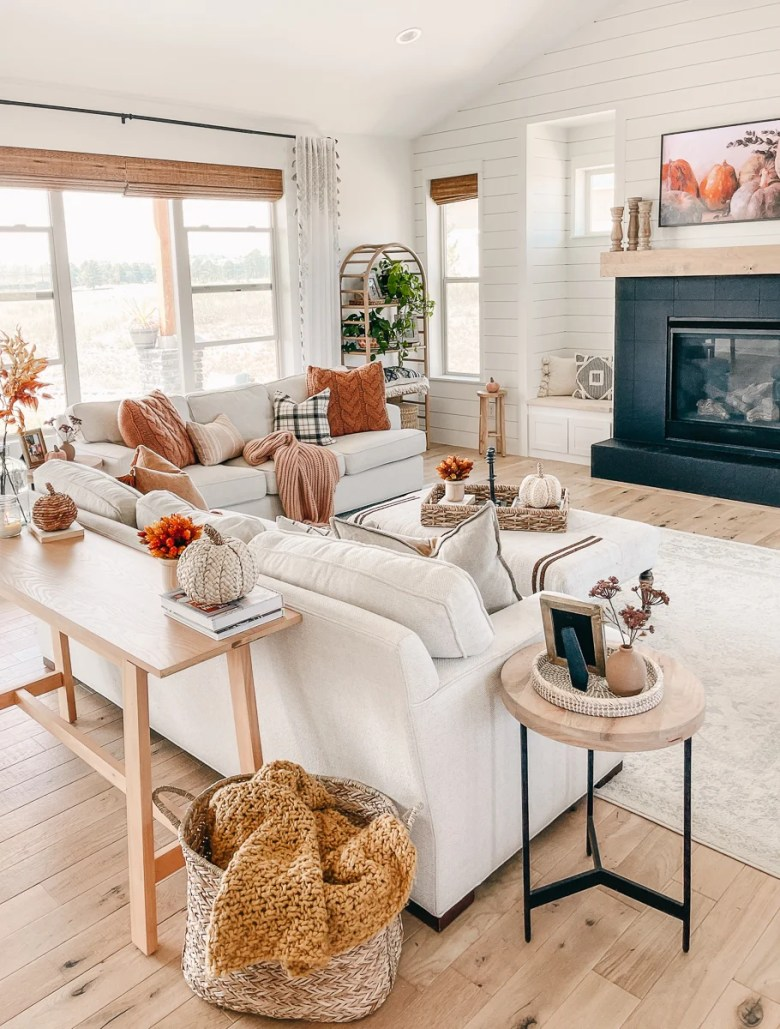 Cozy Fall Decor In The Living Room, Decor For Living Room