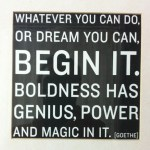 there's magic in starting