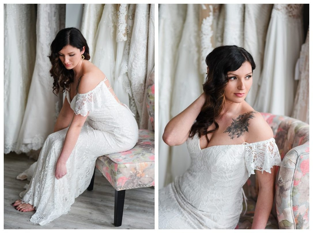 boho bride lace wedding gown