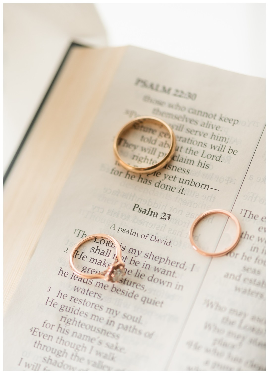 Psalm 32 with wedding rings