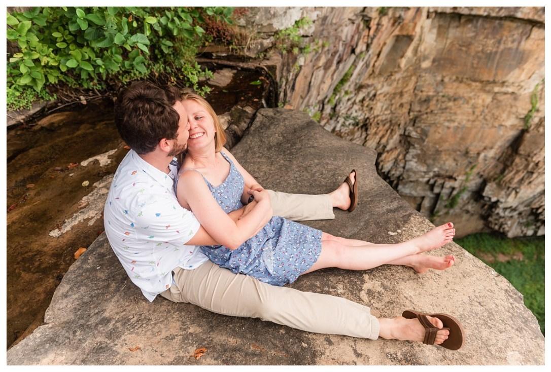 falling falls engagement photos