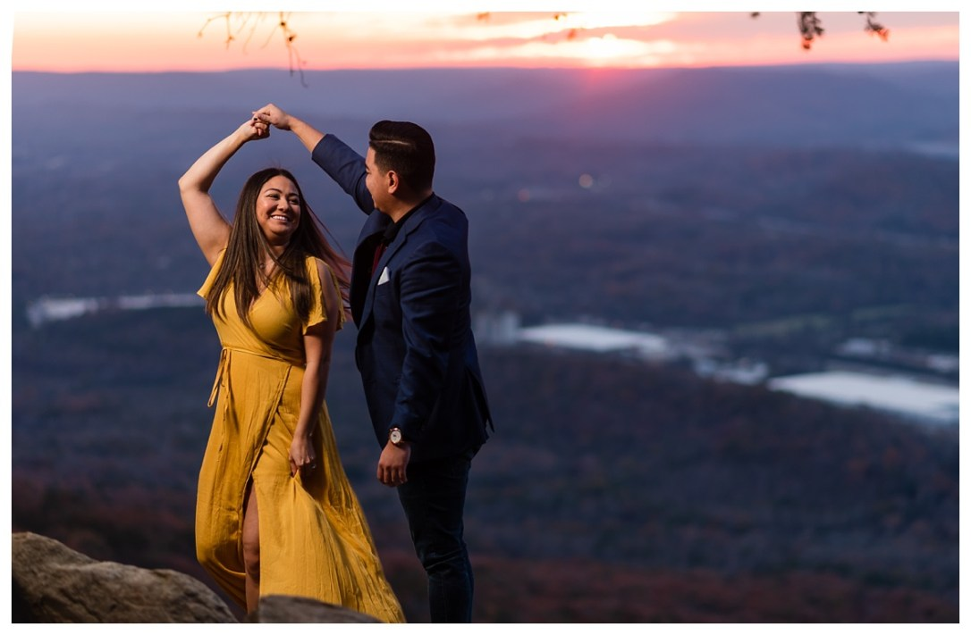 sunset engagement photos