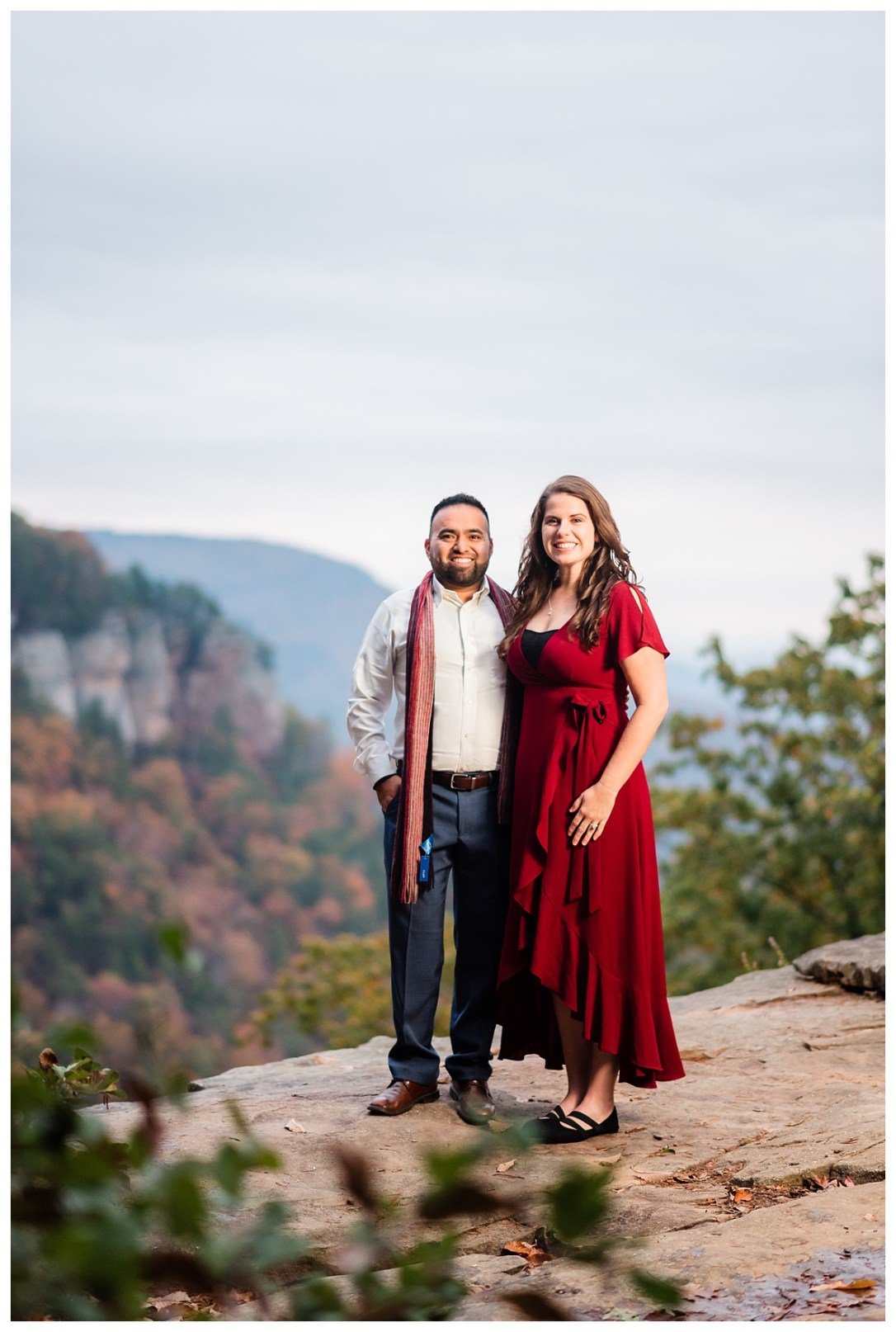 chattanooga fall engagement photos