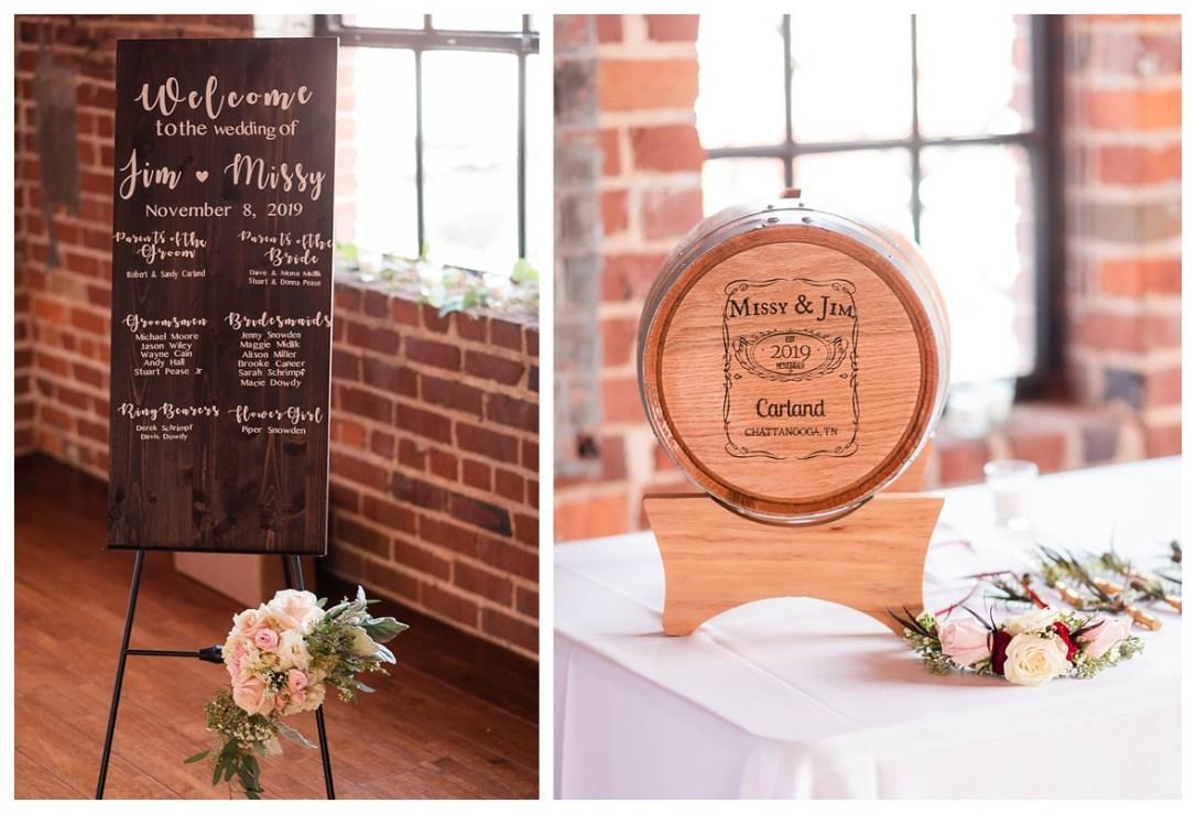 Wedding barrell of whiskey