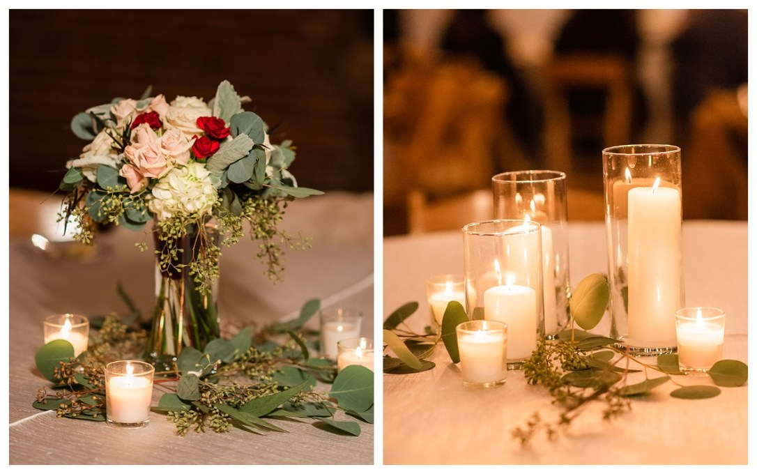 candlelight centerpieces at The Turnbull