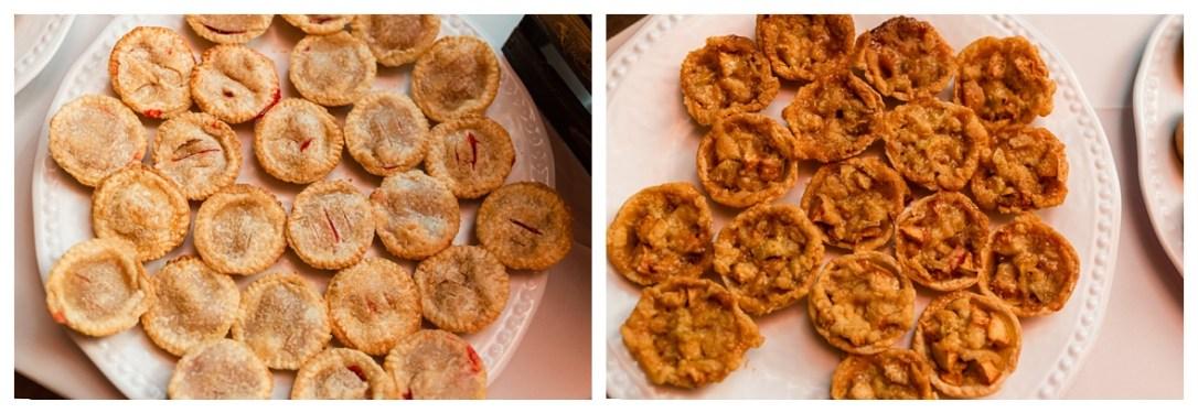 mini pies served at wedding