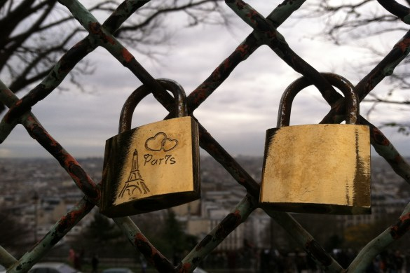 locks of love near Sacre Coeur