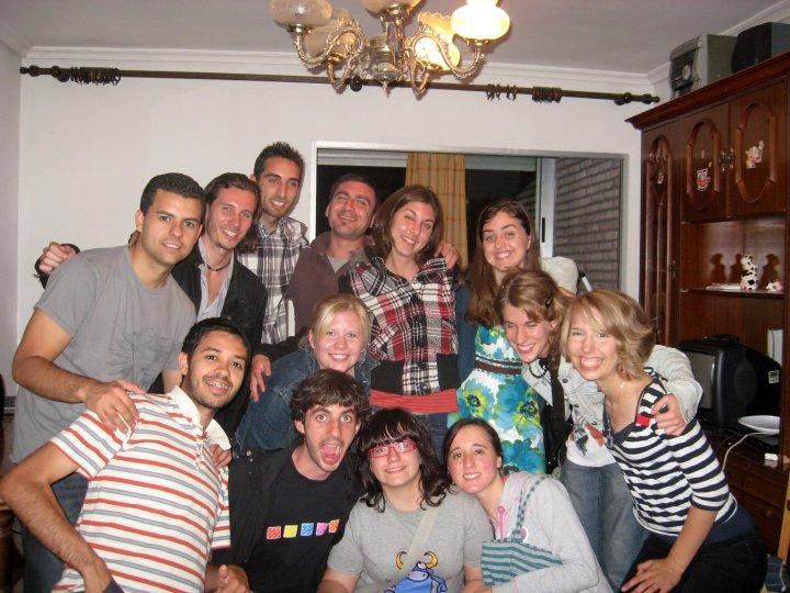 My main group of friends from Sevilla, Córdoba, USA, France, Italy and Poland.