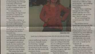 My first newspaper interview