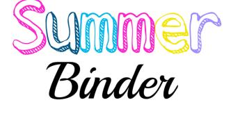 Summer Planning Binder – Free Printable