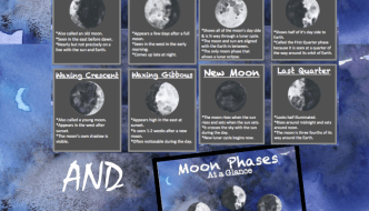 Moon Phase Trading Cards – Free Printable