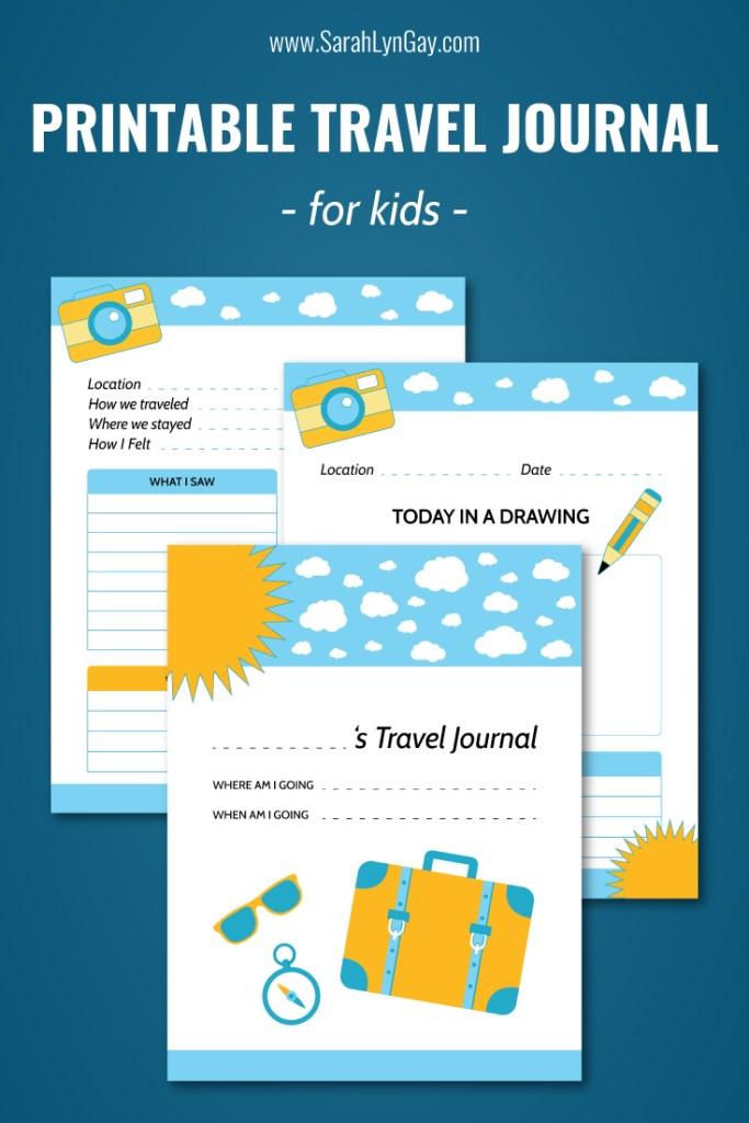 Free Travel Journal for Kids