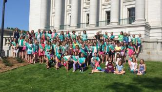 Girl Scouts at the Capitol