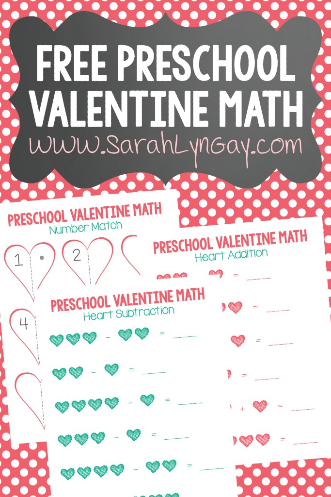 Preschool Valentine Math Free Printable Worksheet