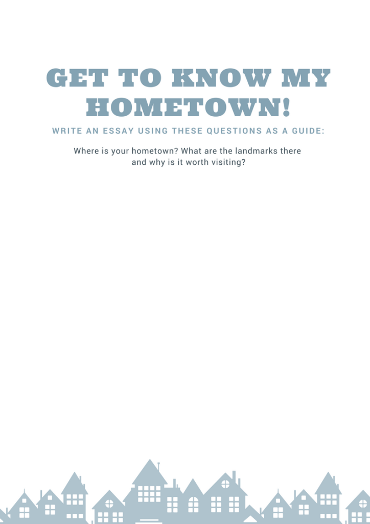 Get To Know My Hometown Free Printable