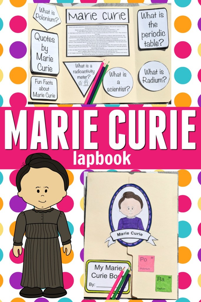 How to Make a Marie Curie Lapbook - free printable article cover image of a lapbook