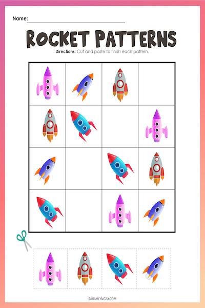 Rocket free printable