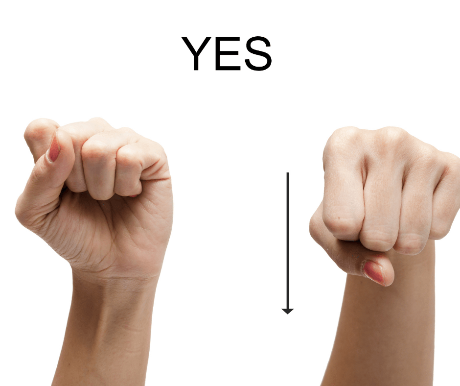 How to say yes in sign language