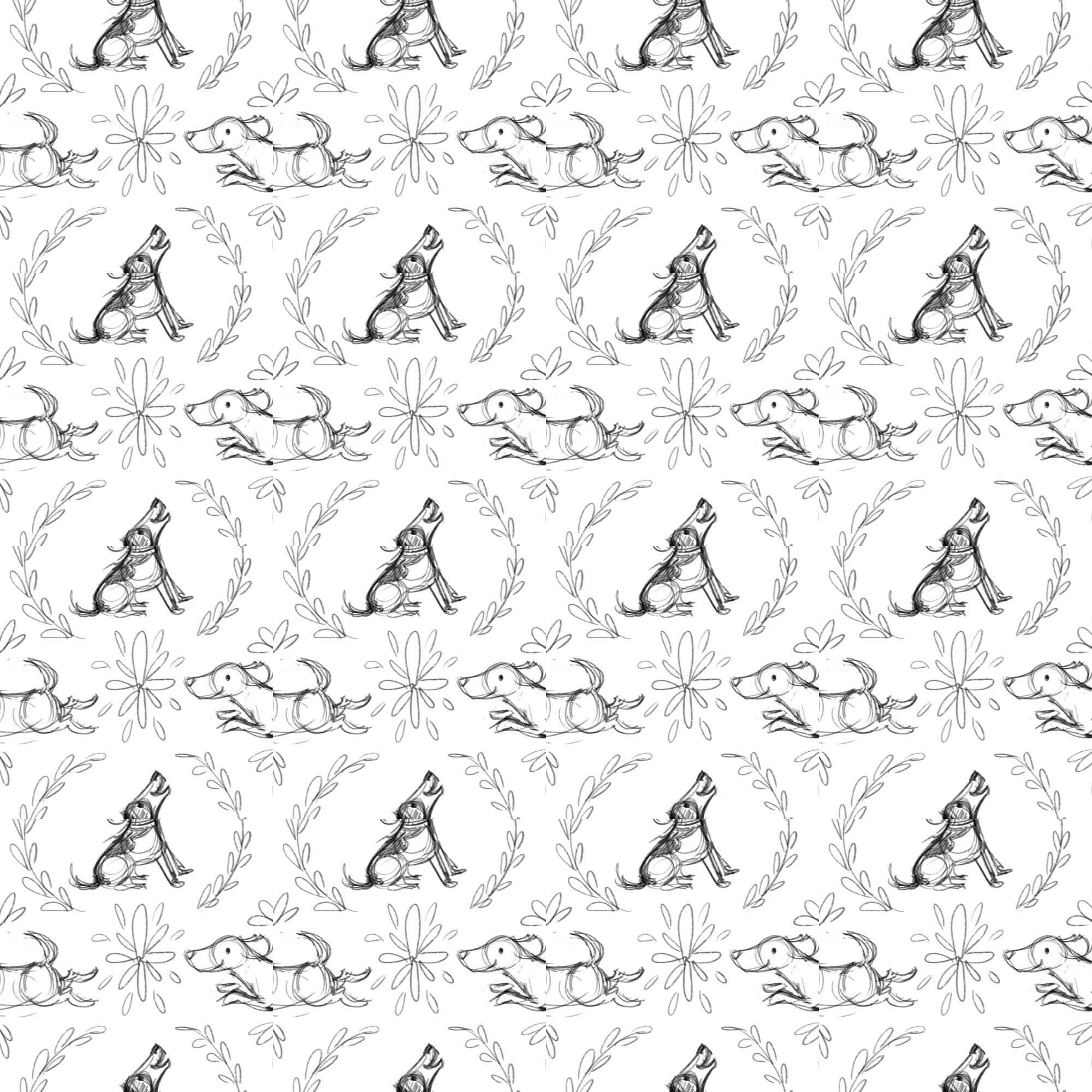 Pattern Design Beagles