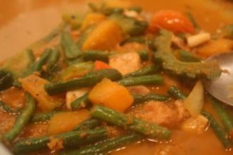 Pinakbet, traditional Ilocano vegetable and meat stir fry, KaLui Restaurant, Puerto Princesa, Palawan, Philippines