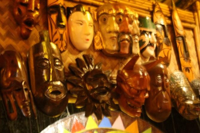 More masks, KaLui Restaurant, Puerto Princesa, Palawan, Philippines