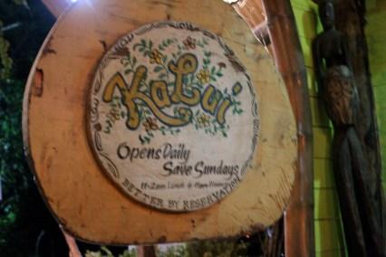 Open daily, save (except) Sundays, KaLui Restaurant, Puerto Princesa, Palawan, Philippines